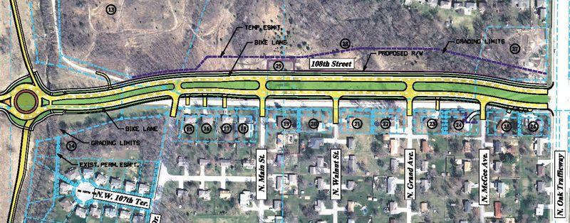 108th_Street_US_169_Construction_West_North_Oak