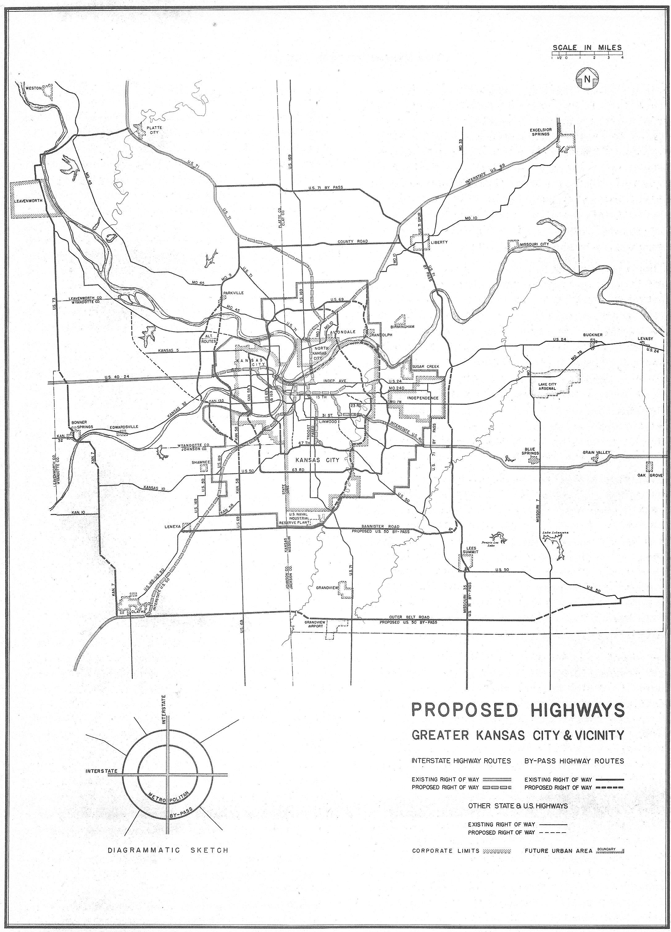 1947 Highway Planning Map The Line Creek Loudmouth