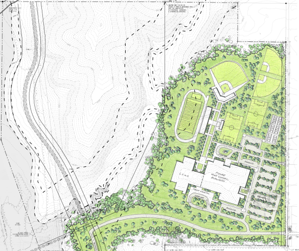 New Park Hill Elementary And High School Site Plan