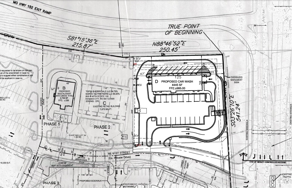 New Car Wash at Southwest Corner of North Oak and MO152 The Line – Car Wash Site Plans